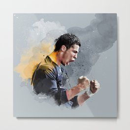 Cristiano ronaldo - painting Metal Print