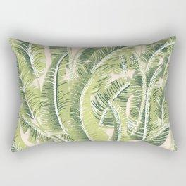 Banana Leaf Pattern Rectangular Pillow