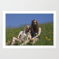 Flowers in Your Hair 1 Art Print