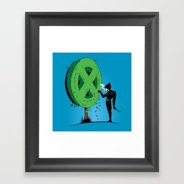 Logan Scissorhands Framed Art Print