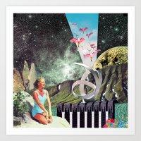 eugenia loli Art Prints featuring Nexus Point ( Collaboration with Eugenia Loli ) by Mariano Peccinetti
