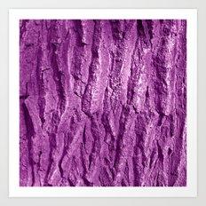 purple tree bark II Art Print