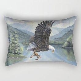 Eagle with Fish Rectangular Pillow