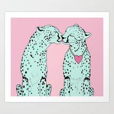 Mint Chocolate Chip Cheetahs Art Print