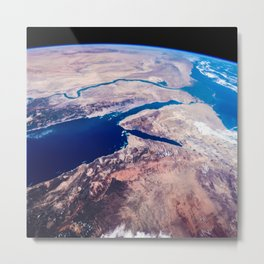 Earth from the space Metal Print