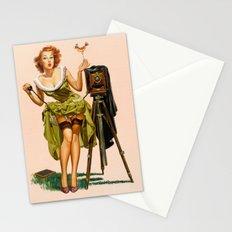 Vintage Camera Pinup girl  Stationery Cards