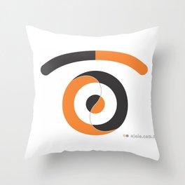yin yang eye Throw Pillow