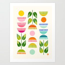 Sugar Blooms - Abstract Retro Inspired Design Art Print