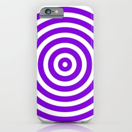 Circles (Violet & White Pattern) iPhone Case