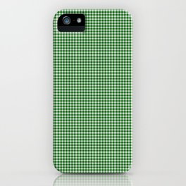 Dark Green Gingham iPhone Case