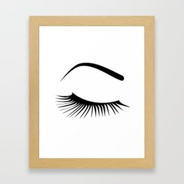 Closed Eyelashes Right Eye Framed Art Print