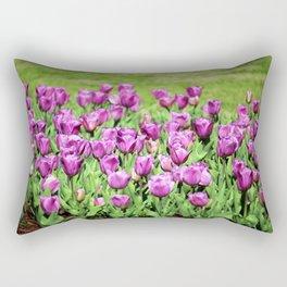 Lilac Tulips Rectangular Pillow