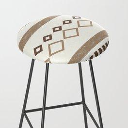 Western Pattern, Out West, Patterns, Brown, Tan, Beige, Shapes, Geometric Western Art Bar Stool