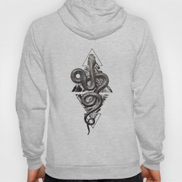 Snake Marbling and Triangles Hoody