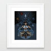 korra Framed Art Prints featuring Korra by Alex Rodway Illustration