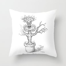 Toothy Tree Throw Pillow