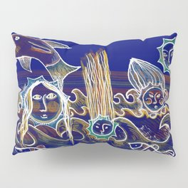 More Suns for Life at Deep Blue Pillow Sham