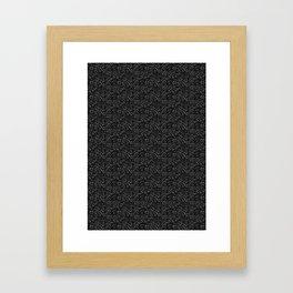 Ink dot scales - black Framed Art Print