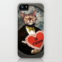 Je t'aime - Kitty Love iPhone Case