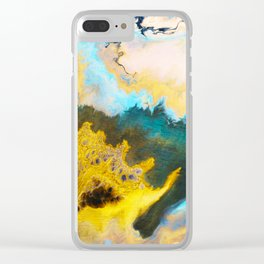 Sandstone washed by Waves on Vancouver Island Clear iPhone Case