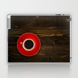 Espresso on a Wooden Table Laptop & iPad Skin