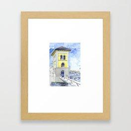 Fishery Watchtower Bag Framed Art Print