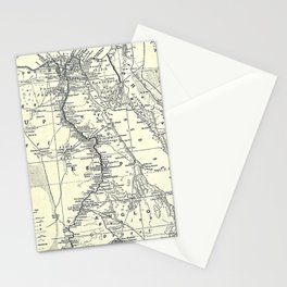 Vintage Map of Egypt (1911) Stationery Cards