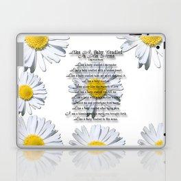 Daisy Flower with Christian Faith Base Poem Laptop & iPad Skin