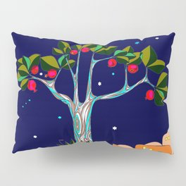 A Traditional Pomegranate Tree in Israel at Nigh Pillow Sham