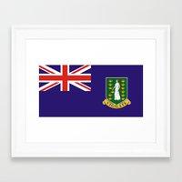british flag Framed Art Prints featuring British Virgin Islands flag by tony tudor