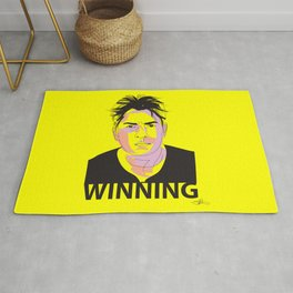 Charlie Sheen Winning_Ink Rug