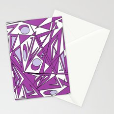 abstract geometrie lilac Stationery Cards