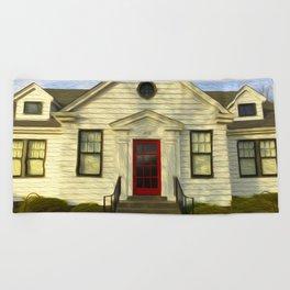 Red Door Beach Towel