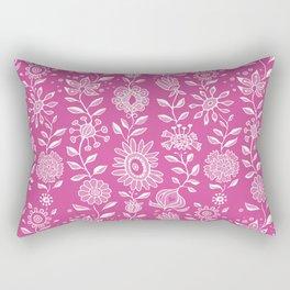 wonky wildflower waterfall ... in pinks Rectangular Pillow