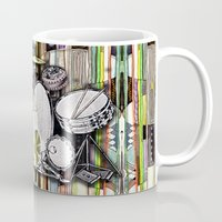 drum Mugs featuring Drum Kit by JustinPotts