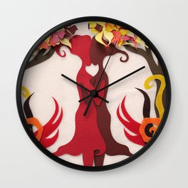 Autumn kiss 2 Wall Clock
