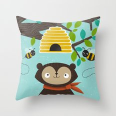 Honey! Throw Pillow