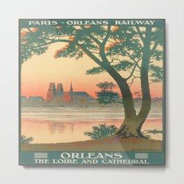 Vintage poster - Orleans Metal Print