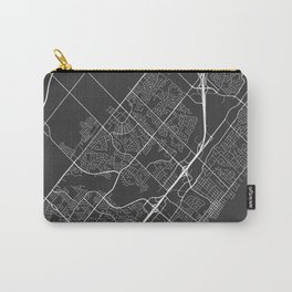 Oakville Map, Canada - Gray Carry-All Pouch