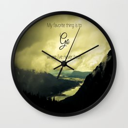 Where I've Never Been Wall Clock