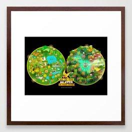 Hunger Games Arenas Framed Art Print