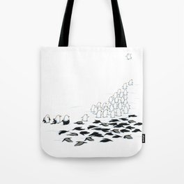 suit down Tote Bag
