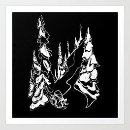 Back Alley :: Single Line Art Print