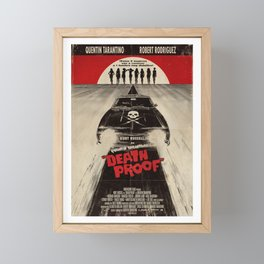 Death Proof Movie Poster Written And Directed By Quentin Tarantino Spanish Version Artwork, Posters, Framed Mini Art Print