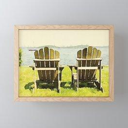 Adirondack Chairs, Maine Framed Mini Art Print