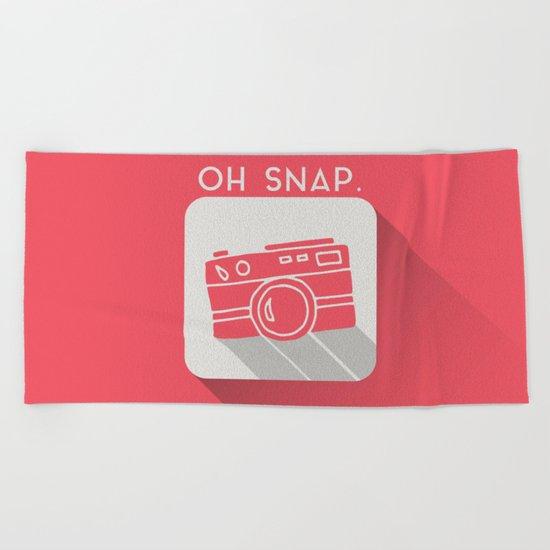 Oh, Snap. Beach Towel
