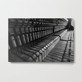 Silent Piano Keys Metal Print