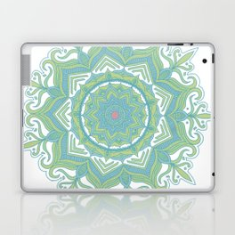 Blue and Green Flower Mandala II Laptop & iPad Skin