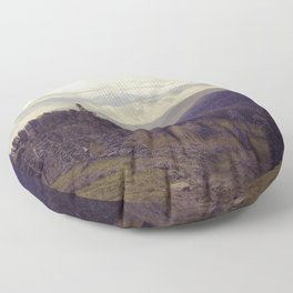 Above The Mountains Floor Pillow
