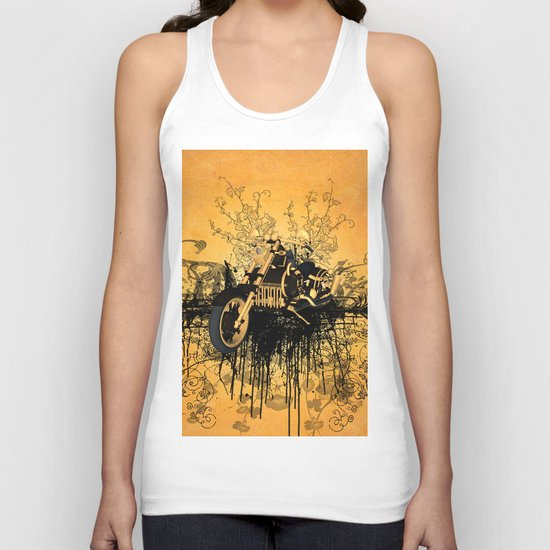 Steam motorcycle Unisex Tank Top
